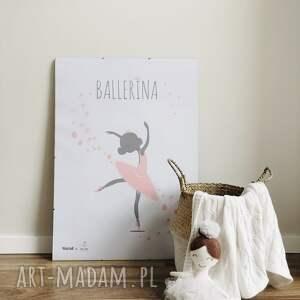 TimoSimo Autorski plakat w stylu skandynawskim Ballerina - pokój dziecka