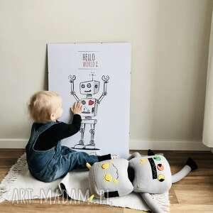 ręcznie wykonane pokoik dziecka robot autorski plakat w stylu