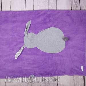 pokoik dziecka polar kocyk króliczek (różowy z szarym