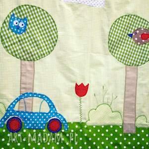 pościel pokoik dziecka zielone bawełniana z aplikacjami