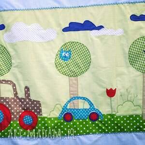 turkusowe pokoik dziecka pościel bawełniana z aplikacjami