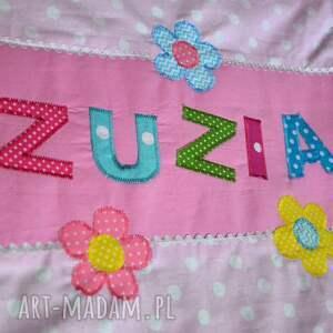 poszewka pokoik dziecka różowe bawełniana na poduszkę
