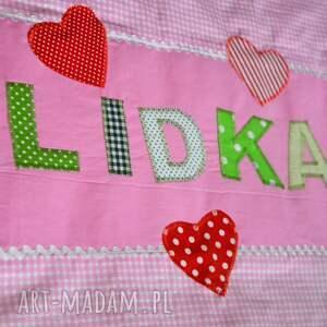 pokoik dziecka: Bawełniana poszewka na poduszkę z imieniem - Hand Made prezent