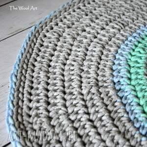 turkusowe pokoik dziecka bawełniany dywan