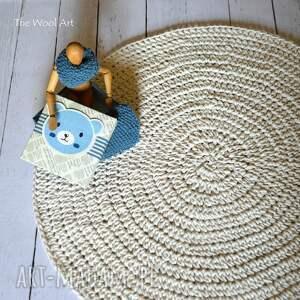 handmade pokoik dziecka dywan bawełniany ecru