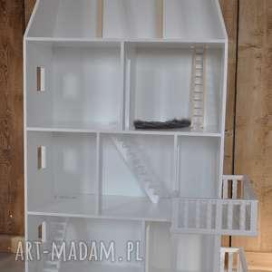 domek pokoik dziecka białe biały drewniany dla lalek