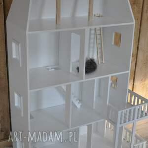 hand made pokoik dziecka domek biały drewniany dla lalek