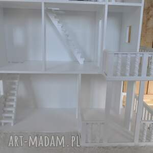 czarne pokoik dziecka lalka biały drewniany domek dla lalek