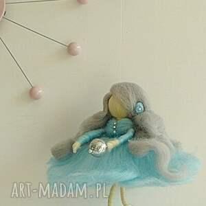 urokliwe pokoik dziecka filc błękitna wróżka tańcząca na list