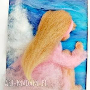 niepowtarzalne pokoik dziecka anioł bujający w obłokach stróż