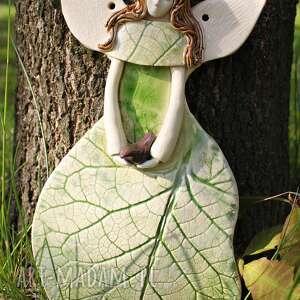 Enio Art frapujące pokoik dziecka aniołek ceramiczny leśny anioł