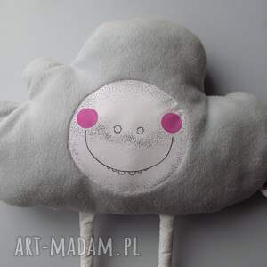 białe pokoik dziecka poduszka chmurka z serii fluffy