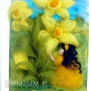 zielone pokoik dziecka kwiat dotyk wiosny. Obraz z kolekcji die