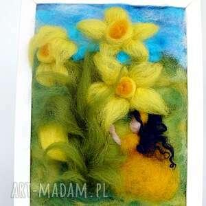 pokoik dziecka narcyz dotyk wiosny. Obraz z kolekcji die