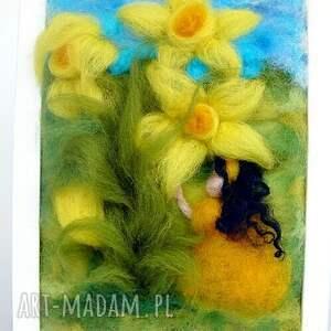 narcyz pokoik dziecka żółte dotyk wiosny. Obraz z kolekcji die