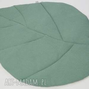 dywanik pokoik dziecka duża mata liść zgaszona zieleń