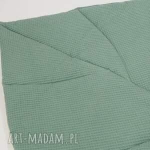ręcznie zrobione pokoik dziecka dywanik duża mata liść zgaszona zieleń
