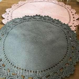 ręcznie wykonane pokoik dziecka dywan bawełniany z koronką