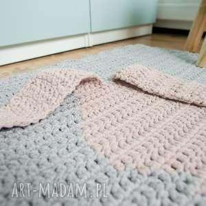 atrakcyjne pokoik dziecka dywan 3d szydełkowy królik
