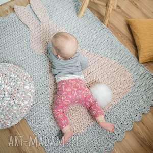 atrakcyjne pokoik dziecka królik dywan 3d szydełkowy