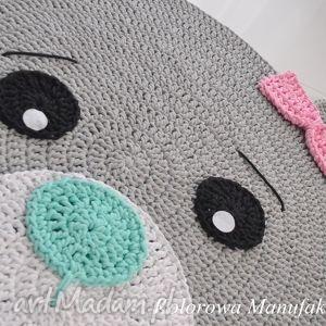gustowne pokoik dziecka miś dywan misia róż-mięta 100cm