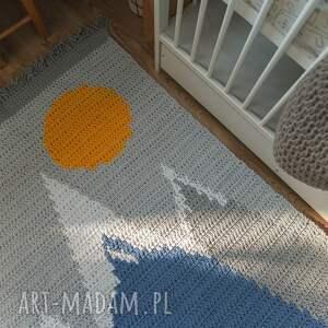 niebieskie pokoik dziecka dywan wierchy małego zdobywcy