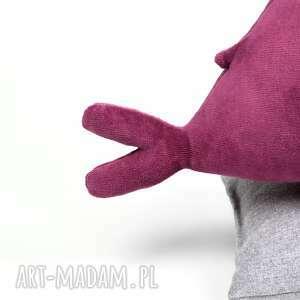 pokoik dziecka maskotka fioletoworóżowy wieloryb bąbel