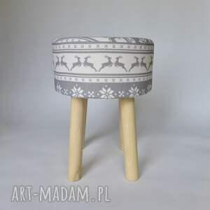 pomysł na prezent świąteczny stołekskandynawski fjerne m szary jelonek