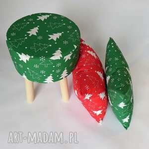 pomysł na prezent pod choinkę dzieci fjerne s zielona choinka - stołek