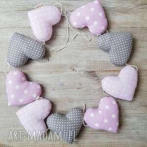 intrygujące pokoik dziecka dekoracje girlanda serca z bawełny