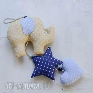 białe pokoik dziecka dla girlanda słonik