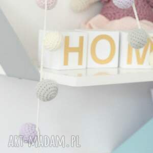 handmade pokoik dziecka dekoracja girlanda szydełkowa