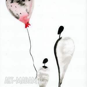 hand made obrazek dziecięcy grafika a4 malowana ręcznie