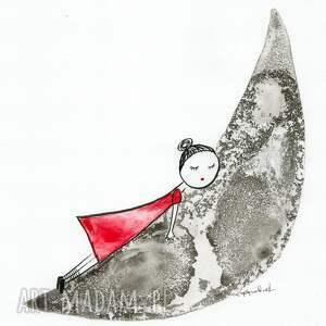 szare pokoik dziecka pokoik-dziecka grafika 30x40 cm wykonana ręcznie