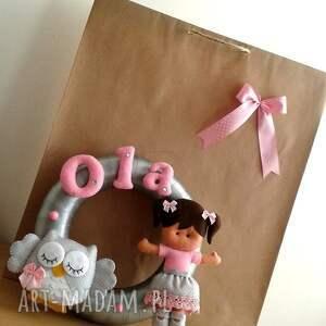 girlanda pokoik dziecka różowe personalizowana z imieniem