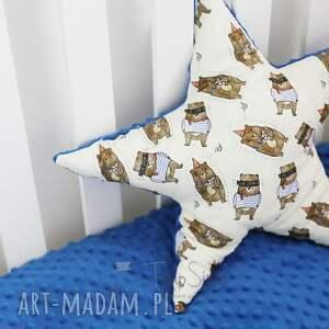 pokoik dziecka bawełna poduszka minky gwiazdka (różowy