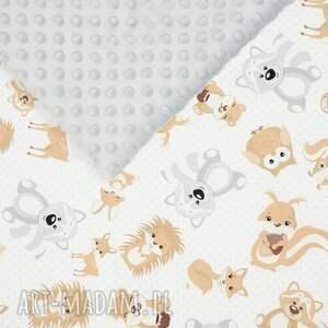 pokoik dziecka poduszka zestaw niemowlaka misiaki szary