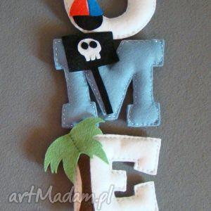 ręcznie robione pokoik dziecka napis imię z filcu - literki
