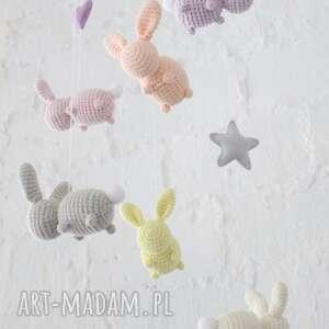 różowe pokoik dziecka zabawka karuzela/mobil nad łóżeczko -