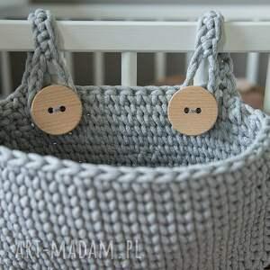 pokoik dziecka: Kieszeń Kangura - kosz - organizer na łóżeczko - HandMade sznurek