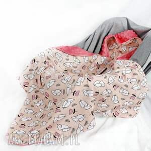 NuvaArt pokoik dziecka: Kocyk do nosidła samochodowego róż - nosidło