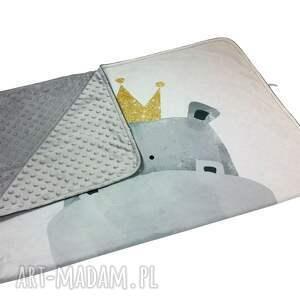 białe pokoik dziecka light kocyk panel hipcio - minky