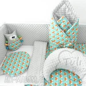 pomarańczowe pokoik dziecka kocyk minky 75x100 lisy