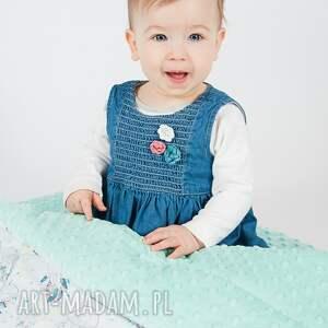 handmade pokoik dziecka kocyk minky - miętowe łapacze snów