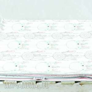 kocyk białe minky 100x75 łapacz snów