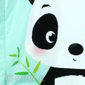 kocyk pokoik dziecka zielone minky 100x75 panda
