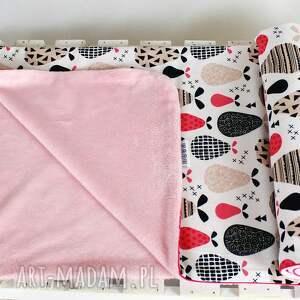 różowe pokoik dziecka kołderka produkt szyty ręcznie z najwyższą starannością