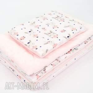 różowe pokoik dziecka kocyk minky - baletnice br 75x100