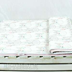 białe pokoik dziecka niemowlę kocyk minky 75x100 łapacz snów