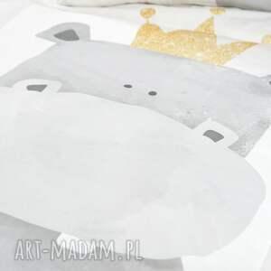 oryginalne pokoik dziecka kocyk minky - hipcio 75x100 cm